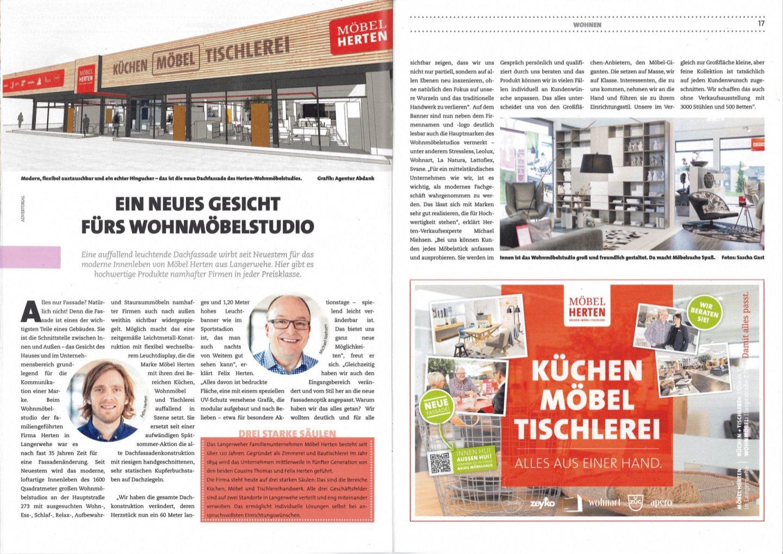 Zeitungsbeitrag Purregio Magazin Zur Neuen Fassade Möbel Herten